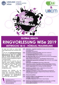 Global Health Lecture Series at University of Cologne